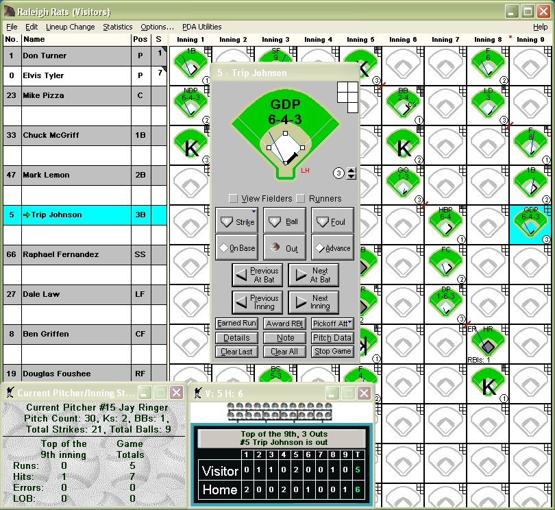 Baseball Scorebook By Fixed It! Software